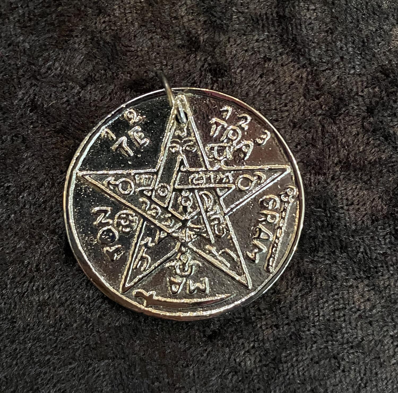 "Brass Tetragrammaton 2"" Silver Plated"