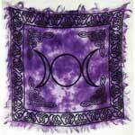 Triple Moon purple 18x18 altar cloth