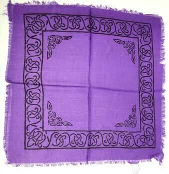 Celtic border purple 18x18 altar cloth