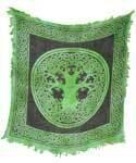 Green Tree of Life cloth 18x18