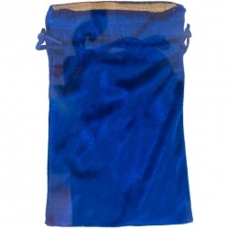 Blue Velvet Bag w/gold lining