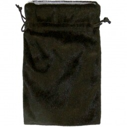 Black Velvet Bag with silver lining