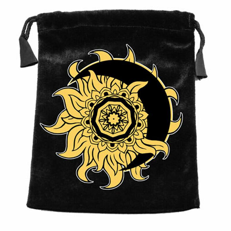 Sun and Moon Velvet Tarot Bag