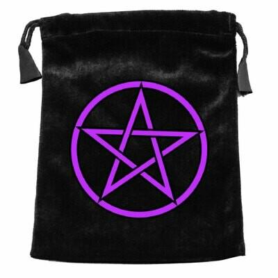 Pentagram Velvet Tarot Bag