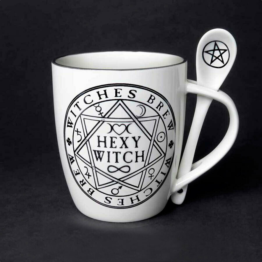 Hexy Witch Mug and Spoon