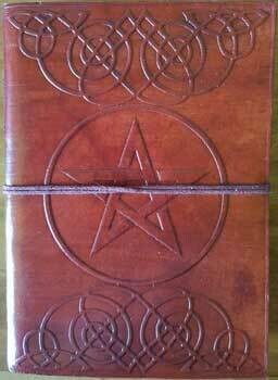 Pentagram leather journal 5x7 w/cord