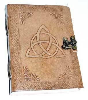Triquetra leather journal w/latch 5x7