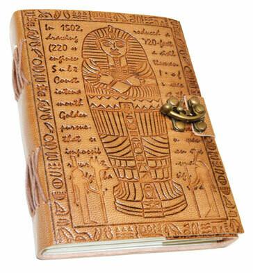 Egyptian leather journal w/latch 5x7