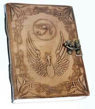 Eye of Horus leather journal w/latch 5x7