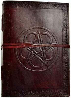 Pentagram Leather Embossed Journal 7x10