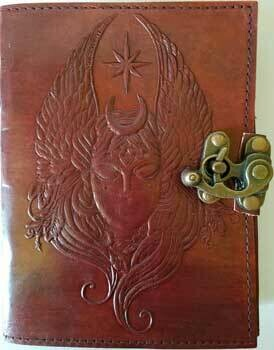 Moon Goddess Leather Journal w/latch 5x7