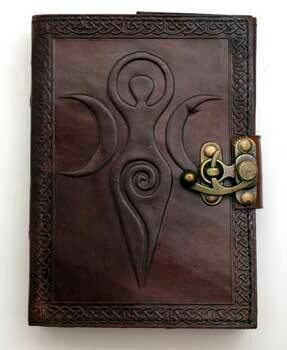 Maiden Mother Crone Leather Journal w/latch 5x7