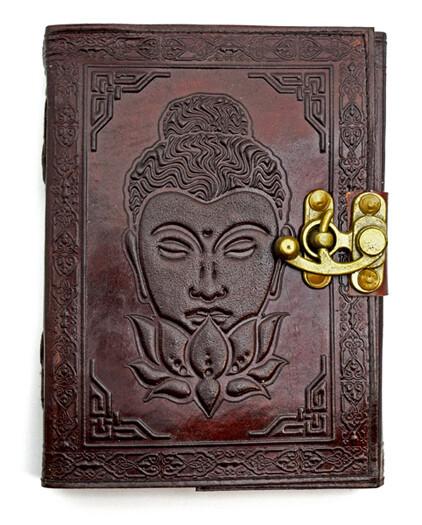 Buddha Lotus Flower Journal w/latch 5x7
