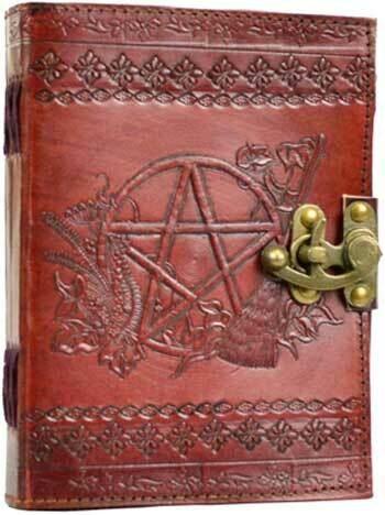 Sabrina's Pentagram Leather Journal 5x7 lock