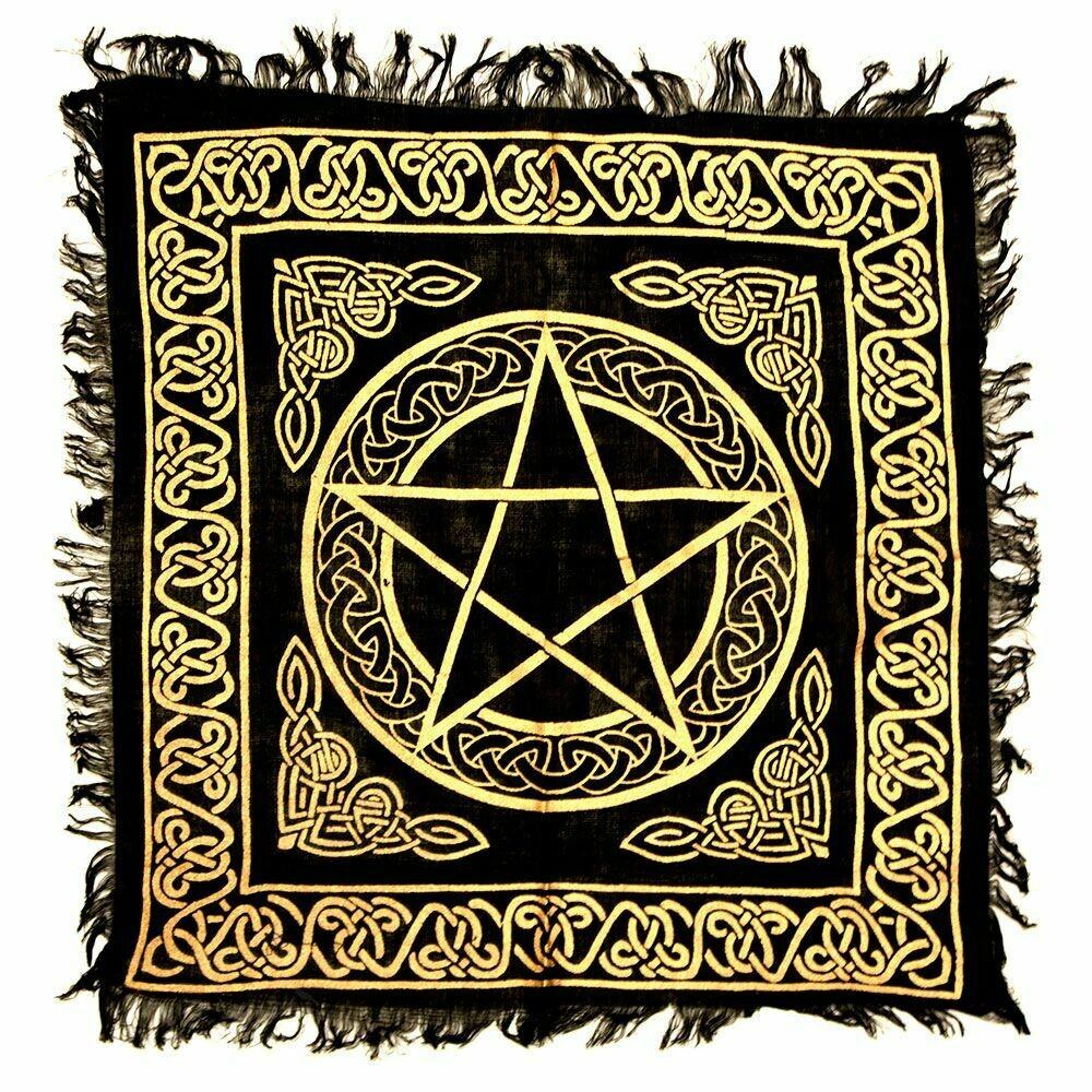 Pentacle Gold altar cloth 18x18