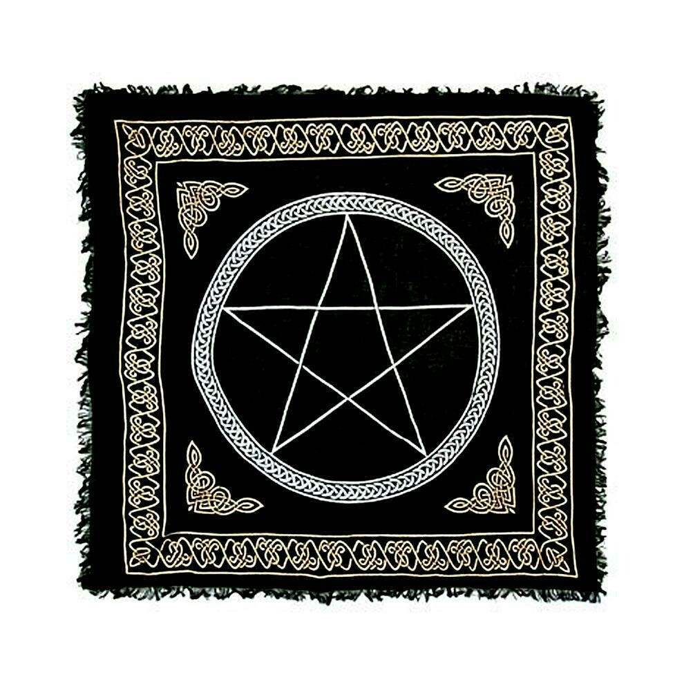 Pentacle Gold & Silver altar cloth 36x36