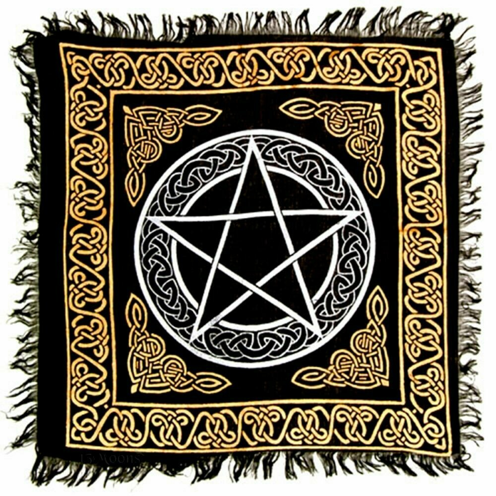 Pentacle Gold & Silver altar cloth 18x18