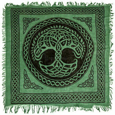 Tree of Life Green Altar Cloth 36x36