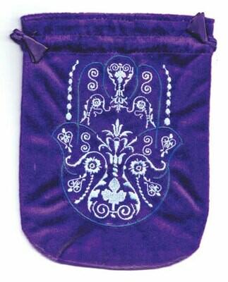 Fatima Hand Pouch 6x8 purple