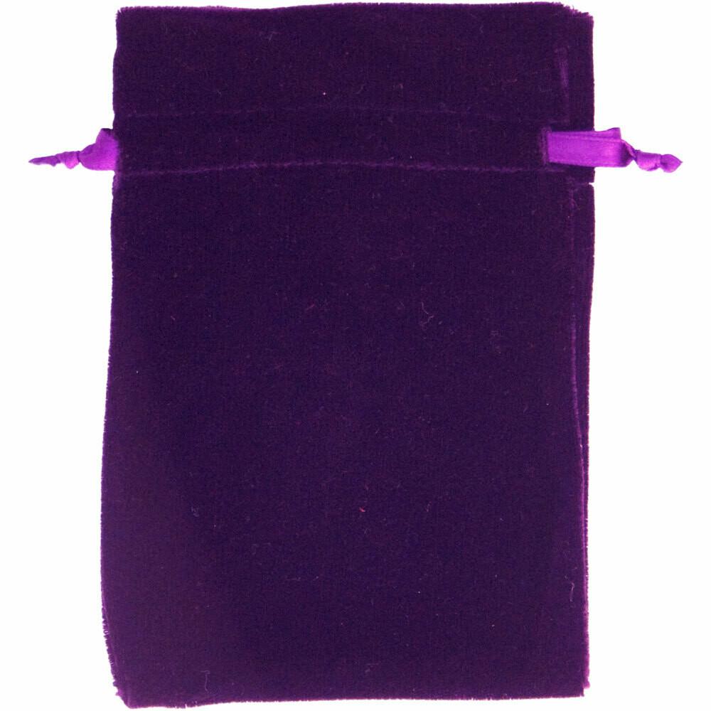 Unlined Purple Velvet Bag 6x9
