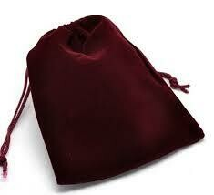 Unlined Burgundy bag 4x6