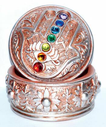 Hamsa Chakra Stones Box