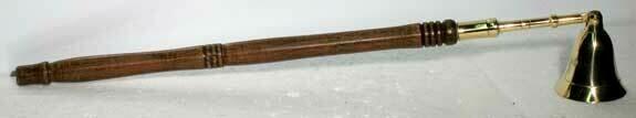 Brass Snuffer Wood Handle