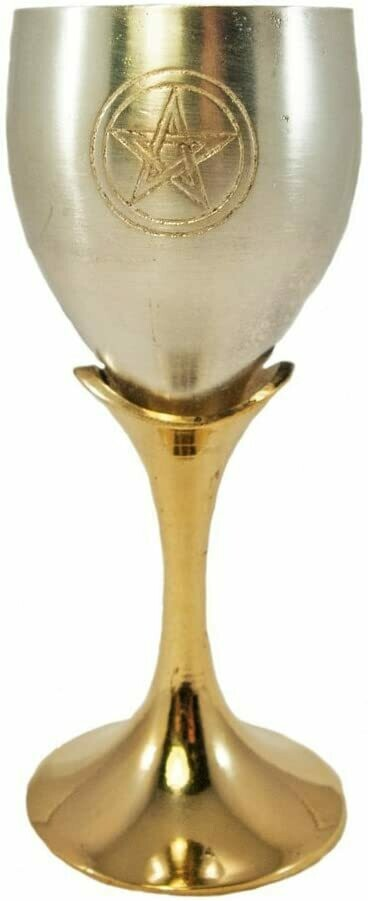 Pentagram Silver/Brass Chalice 5'
