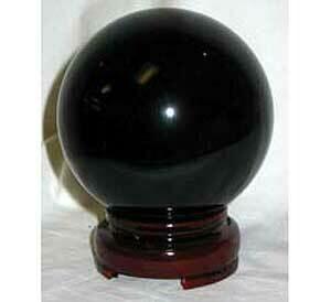 Black Crystal Ball 80mm