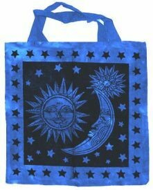 Sun and Moon Blue 18x18 tote