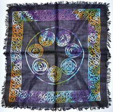 7 Chakra Altar Cloth 18x18