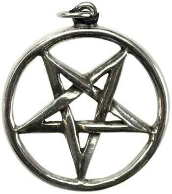 Pentagram inverted pewter