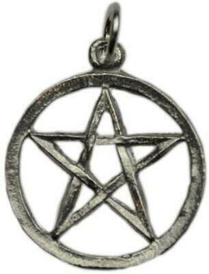 Pentacle pewter small pendant