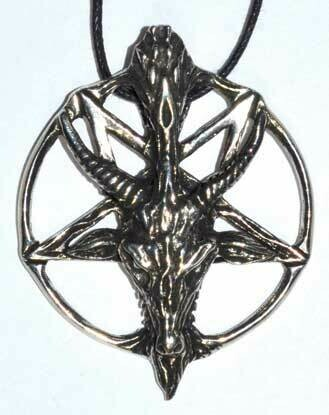"""1.5"""" Pentacle of the Goat necklace"""