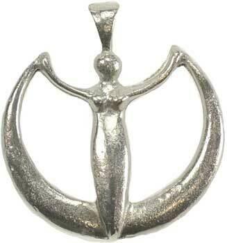 Crescent Moon Goddess pendant