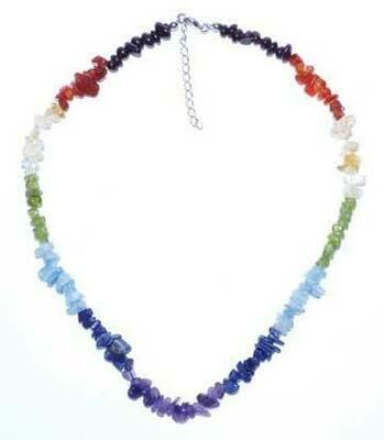 7 Chakra Chip necklace 18