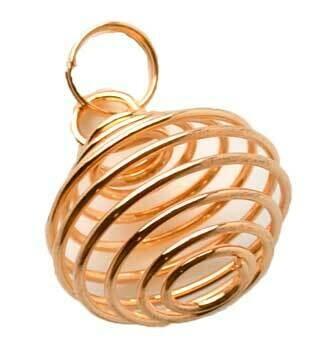 "Copper coil 1"" necklace"