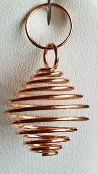 "Copper coil 3/4"" necklace"