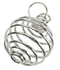 """Silver coil 1"""" necklace"""
