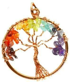 7 Chakra Tree copper