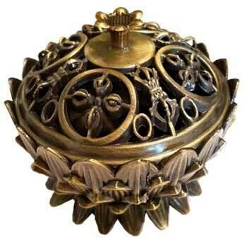 Lotus antique bronze burner
