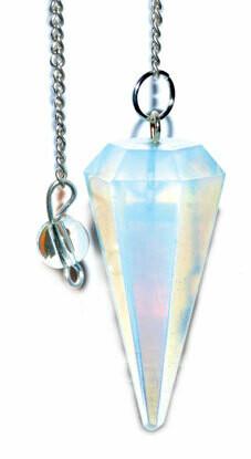 Opalite 6 sided Pendulum