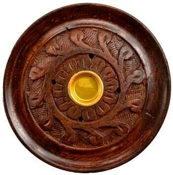 """Wood Carved Stick/Cone Burner 3.75"""""""