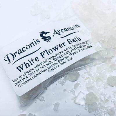 White Flower Bath Salts 4oz