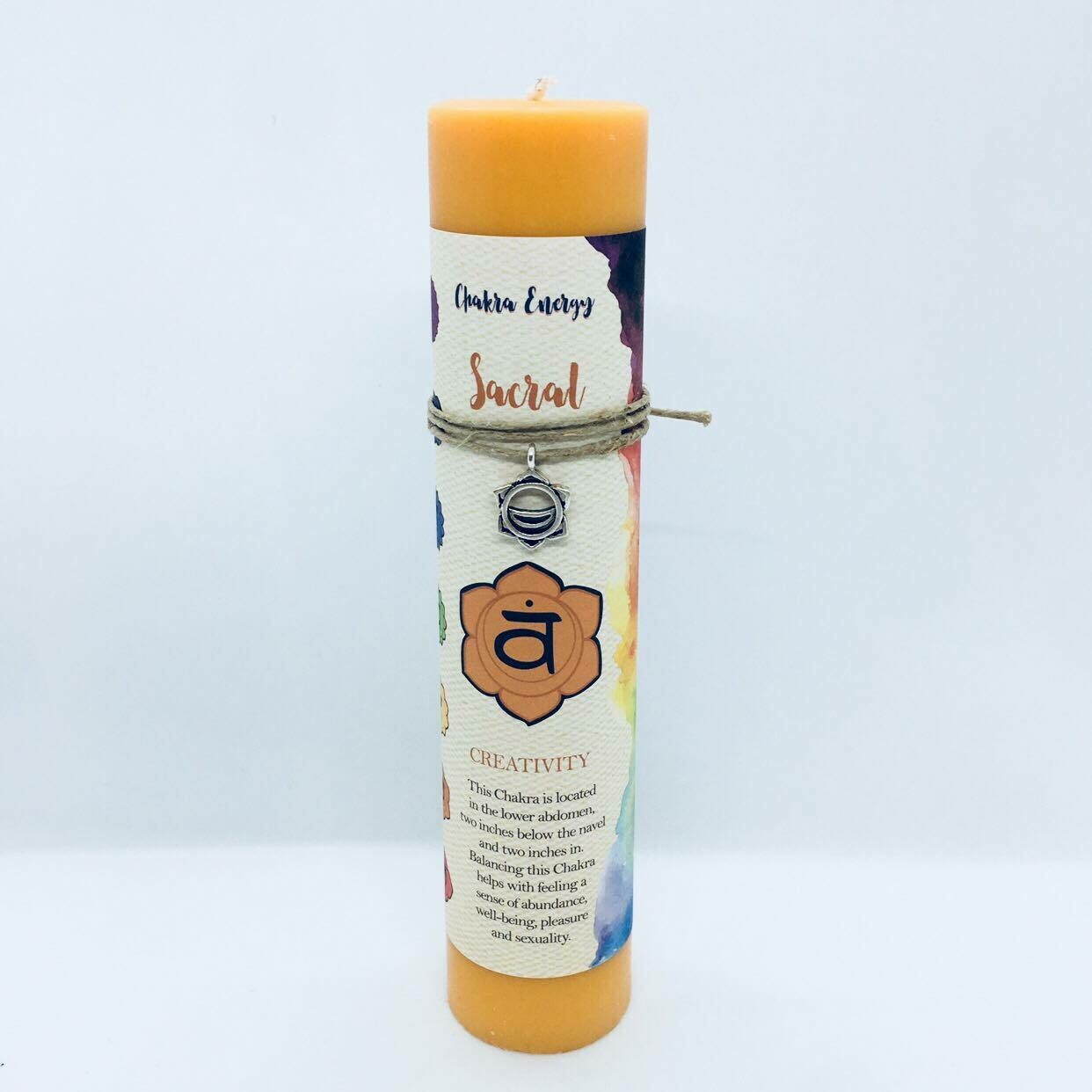 Chakra Energy Sacral candle pillar