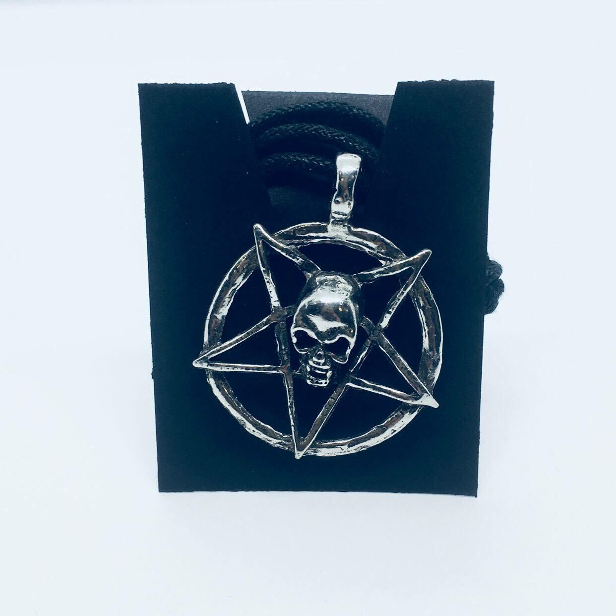 Skull Inverted Pentagram pendant