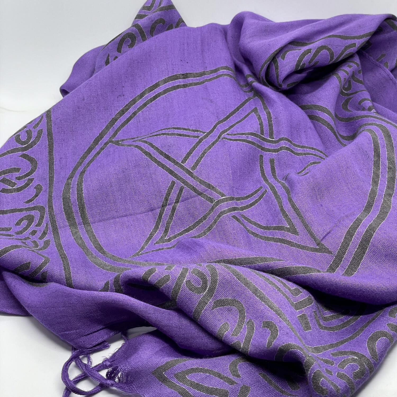Purple pentagram cloth 22x72