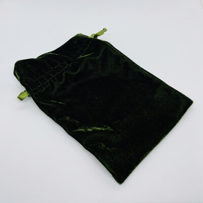 Unlined Moss velvet bag 6x9