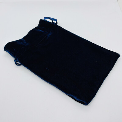 Unlined Navy Velvet Bag 6x9
