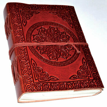 Celtic Mandala Leather Journal 5x7 w/cord